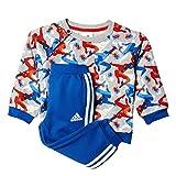 adidas Kinder Trainingsanzug TO DY SM CSS, Grau/Orange/Blau, 86, 4055344428450