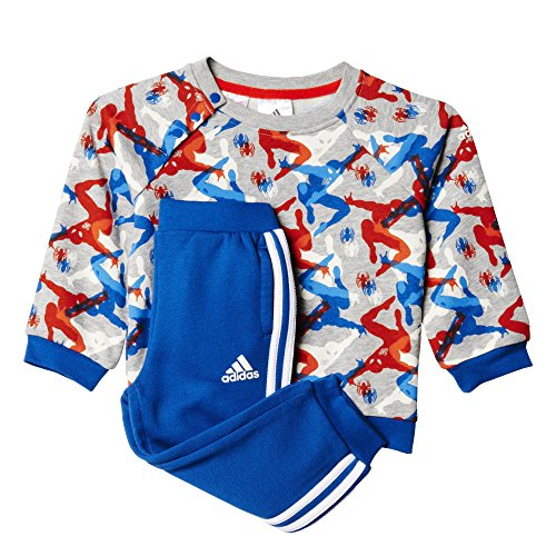 adidas Kinder Trainingsanzug TO DY SM CSS, Grau/Orange/Blau, 92, 4055344428436
