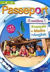 Passeport 3 matières de la 6e à la 5e : Français, maths, anglais