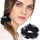 Panache Hair Rubber Band, Black Bobbles With Crystals, Long Lasting Elastic Band, Accessories Collection For Women, Beauty, Hair Care & Style 92.