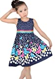 New Girls Dress Navy Blue Butterfly Party School Child Size 7-8