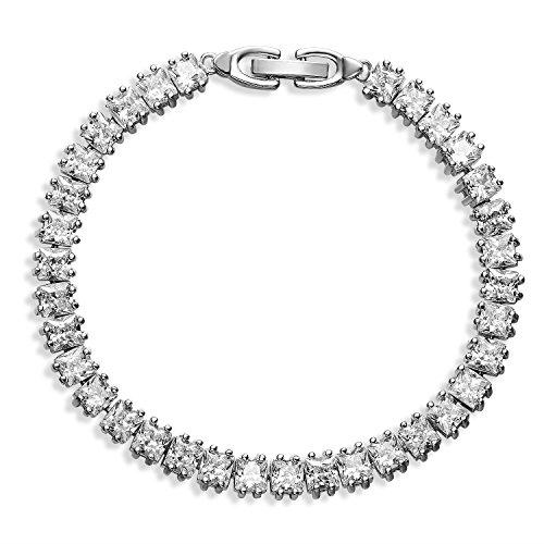 Prime Day Sale FANCYDELI® Modeschmuck Damen Armband Armreif mit AAA Zirkonen Geschenk...