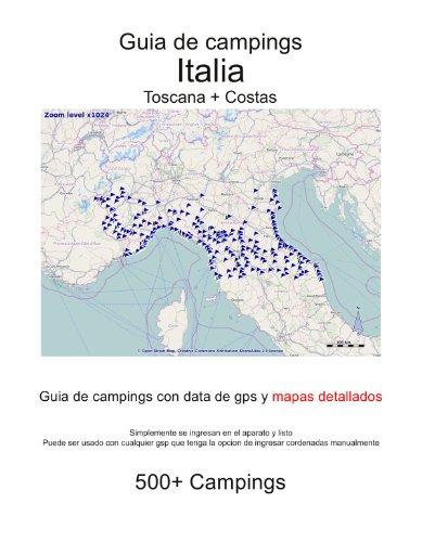 Guia de campings en ITALIA - TOSCANA + COSTAS (con data de gps y mapas detallados) por m lab