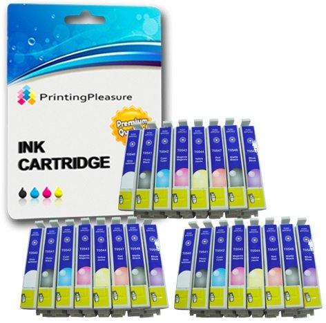 Preisvergleich Produktbild 24 Druckerpatronen für Epson Stylus Photo R800,  R1800 / Kompatibel zu T0540,  T0541,  T0542,  T0543,  T0544,  T0547,  T0548,  T0549