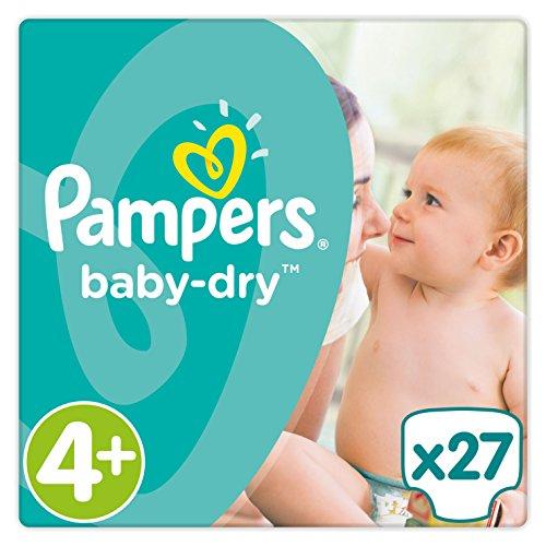 Pampers Baby-Dry Gr. 4+,9-18kg, 27Windeln, 4er Pack (4 x 27 Stück), 1 Packung = 1 Impfdosis