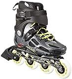 Rollerblade Anthrazit/Limette 230Skate, Rollschuhe Twister 80LE