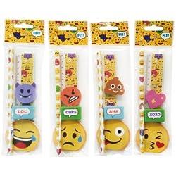 DISOK - Set 5 Pcs Papelería Emoticonos De Regalo
