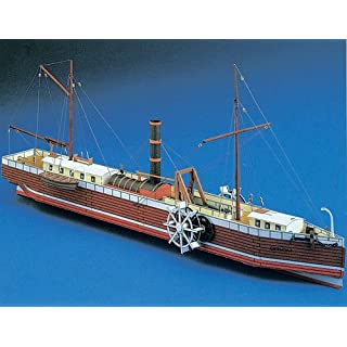 Aue-Verlag 24 cm North River Steamboat of Clermont Model Kit