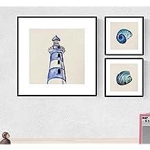 PACK de láminas para enmarcar MAR AZUL. Posters cuadrados con imágenes del mar. Decoración de hogar. Láminas para enmarcar. Papel 250 gramos alta calidad