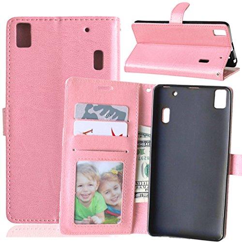 Beiuns para Lenovo K3 Note K50-t5 4G LTE (5,5 pulgadas) Funda de PU piel Carcasa - K123 rosa dulce