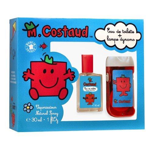 Coffret M.Costaud : 1 eau de toilette vaporisateur 30ml + une lampe dynamo- Monsieur Madame