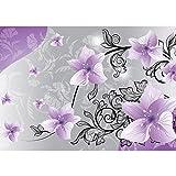 Vlies Fototapete PREMIUM PLUS Wand Foto Tapete Wand Bild Vliestapete - Blumen Blüten Blätter Orchideen Schnörkel - no. 2223, Größe:416x254cm Vlies