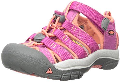 Keen Unisex Baby Newport H2 Lauflernschuhe, Pink (Very Berry/Fusion Coral), 23 EU (Fußbett Berry)