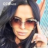 NSYJDSP Neue Ankunft Sonnenbrillen Frauen Unregelmäßige Schneiden Objektiv Mode Eyewear Ozean Brille C'3016
