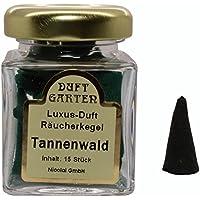 Luxus Duft Räucherkegel - Tannenwald - Räucherkerzen Duftkegel 15 Stück im Glas preisvergleich bei billige-tabletten.eu