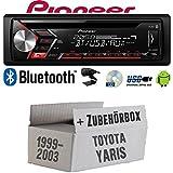 Toyota Yaris P1 1999-2003 - Autoradio Pioneer DEH-S3000BT, Bluetooth, CD, MP3, USB, accessori di montaggio Android