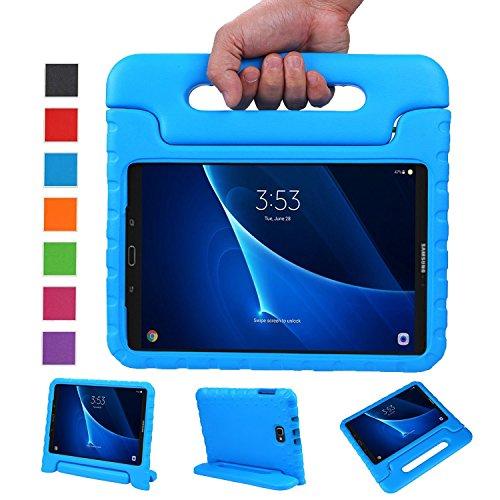 BelleStyle Funda para Samsung Galaxy Tab A 10.1 2016, A Prueba de Choques Ligero Estuche Protector Manija Caso Forró con Soporte para Niños para Galaxy Tab A 10.1 Pulgadas SM-T580/T585 (Azul)