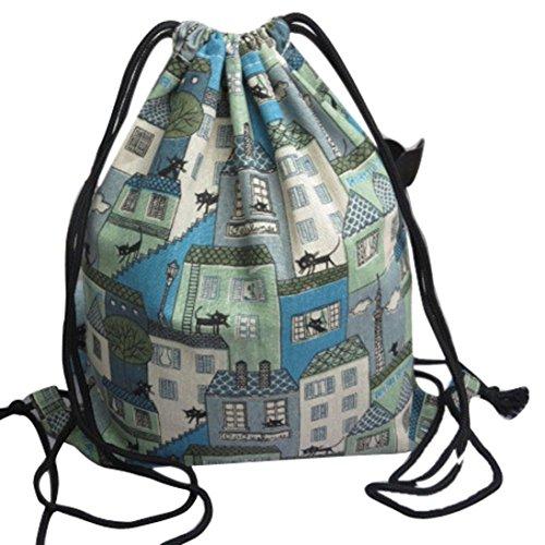 Transer Women Shoulder Bag Popular Girls Hand Bag Ladies Canvas Handbag, Borsa a spalla donna Blue m Blue