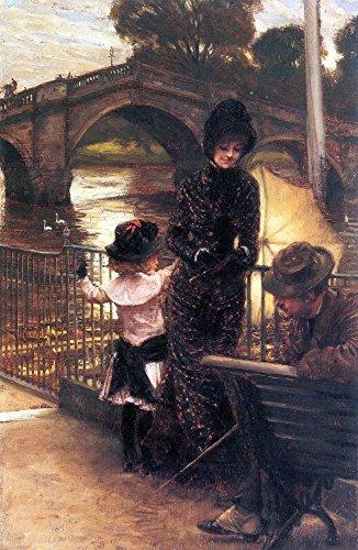 Das Museum Outlet-Richmond an der Themse von Tissot, gespannte Leinwand Galerie verpackt. 29,7x 41,9cm