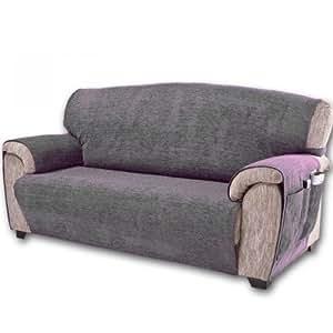comptoir du linge paula3plgris prot ge canap 3 places gris 170x210 cm cuisine maison. Black Bedroom Furniture Sets. Home Design Ideas