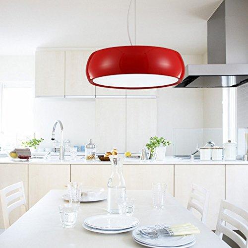 WALP Snare-Drum LED Aluminium farbige Kronleuchter (45cm) , big red