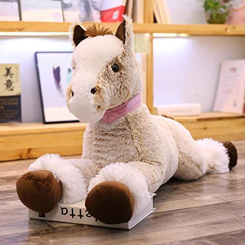 Brown Solid Kissenbezug Set (saqwq Pferd Puppe Plüsch Spielzeug Faule Menschen Schlafen Halten Kissen Große Glückliche Pferd Puppe Nach Hause Geburtstagsgeschenk 1,2 m Brown Horse)