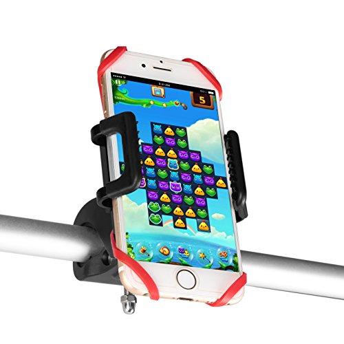 Preisvergleich Produktbild Universal Handyhalterung Fahrrad Beschoi Fahrradhalterung Handyhalter Motorrad für iPhone Samsung HTC LG Huawei Blackberry Smartphone und GPS