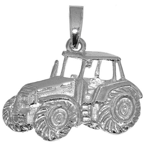 Derby Anhänger Traktor Schlepper Bulldog groß massiv echt Silber Landwirtschaftssymbol 23998