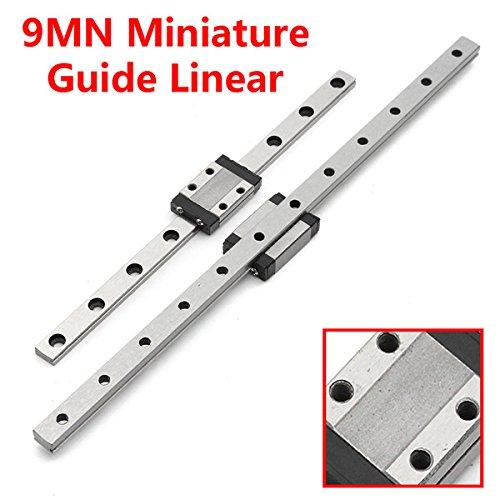 EsportsMJJ 9Mn Miniaturführung Linear Tragschiene Gleitlager Stahlkugelhalter/Halterung -240mm