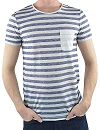 Tom Tailor Denim Herren T-Shirt Pigment Printed Stripe Tee