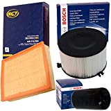 1x Bosch+SCT Filter Set Inspektionspaket 1x Filter, Innenraumluft ( Bosch ) 1x Oelfilter ( Bosch ) 1x Luftfilter ( SCT )