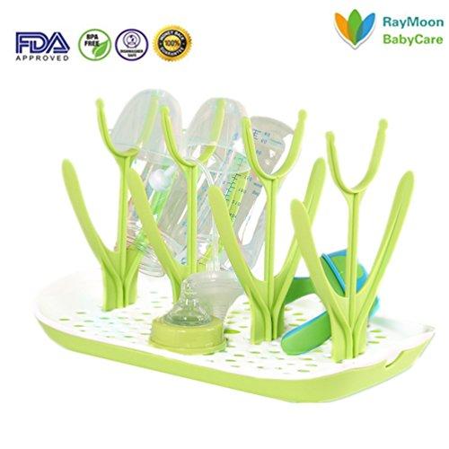RayMoon Mehrfunktional Y-Schriftart Trockenständer Reinigung Trocknen Rack für Baby Flaschen Grün