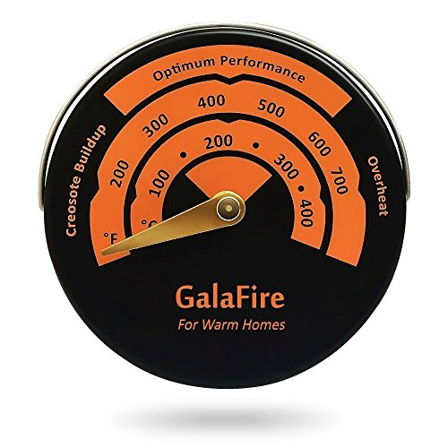 Magnetic Stove Thermometer Oven Temperature Meter for Wood Burning Stoves Gas Stoves Pellet Stove Stoves Avoid Stove Fan Damaged by Overheat -
