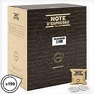 Note d'Espresso Classico Coffee Paper Pods 7g x 150 Pods