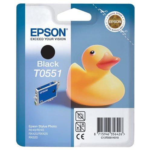 Epson T0551 Cartouche d'encre d'origine Noire pour R240 245 RX420 425 520