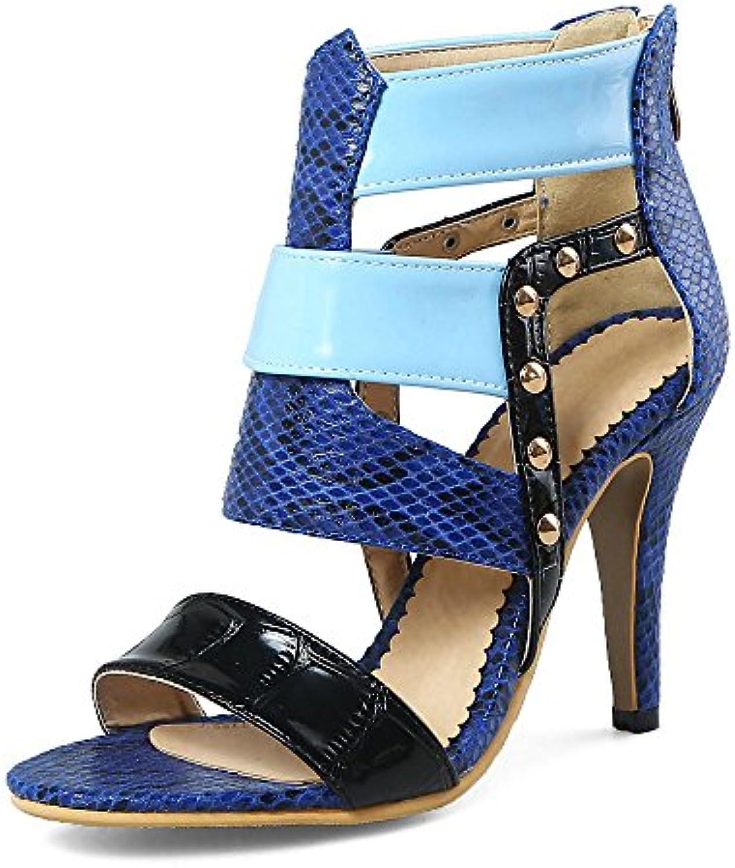 WYYY Zapatos De Mujer Temporada De Verano Bloque De Bajo Talón Color Puro Vendajes Apuntado Tacones Altos Zapatos... -