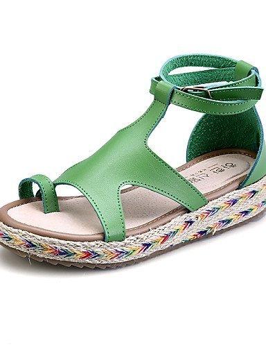 lfnlyx Femme Chaussures Plateforme Gladiateur en microfibre/bout rond/Sandales à bout ouvert pour femme Noir/marron/vert/blanc Blanc - blanc