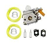 TucParts Carburateur pour débroussailleuse Homelite Ryobi RBC30SET RLT30CET RHT2660DA RLT26CDS RBC26SES Pièce de rechange ZAMA C1U-H60308054003985624001