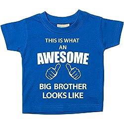 Dies ist, was ein Awesome Big Brother Looks Like blau Tshirt Baby Kleinkind Kinder erhältlich in den Größen 0-6Monaten bis 14-15Jahren Baby Schwester Geschenk - Blau, 24-36 Months