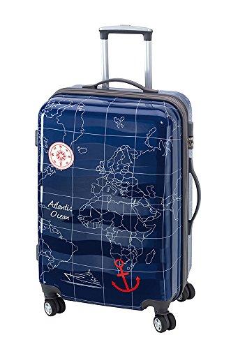 Koffer Trolley Reisekoffer Hartschale MADEIRA XL 70 Blau