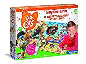 Clementoni - Sapientino Gigante interactivo-44 Gatos, Alfombra Puzzle, Multicolor, 16192