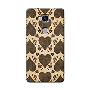 BROWN HEARTS BACK COVER HONOR 5C
