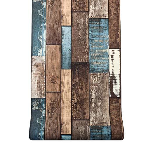 Holzmaserung Wallpaper Holz Kontakt Papier Holz Peel Und Stick Tapete Abnehmbare Vintage Holzplatte Wandverkleidung Dekorative Für Home Küche Bad Dekoration (0,53 10 Mt) (Peel Und Stick Holz Wallpaper)