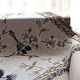 AFAHXX Verdickt Decke zu Werfen,Dekoration Sofa Überwürfe [chinesischer Stil] Quaste Weich Heavy Sofa Abdeckung Sofabezug für Sofa Sofa Couch Stuhl möbel-A 160x220cm(63x87inch)