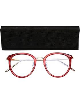 SojoS Gafas Transparentes Redondas Clasicas Mujer SJ5969