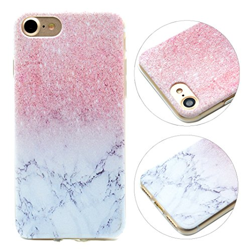 Etui iPhone 6, iPhone 6S Housse, Coque pour iPhone 6 HuaForCity® Peint Transparent Doux TPU Silicone étui Coque Case Cover pour iPhone 6/6S-Dreamcatcher Marbre