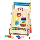 Q&F Einstellbare geschwindigkeit kind walker Trolley Multifunktionale aus holz baby schritt auto Baby-spielzeug-auto-A
