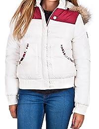 Womens Bellfield Carfin Desiger Padded Faux Fur Trim Detachable Hooded Jacket