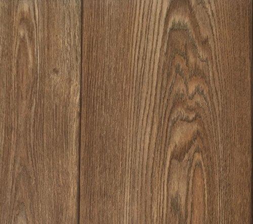 PVC Vinyl-Bodenbelag in Walnuss Optik | CV-Belag im Landhausdielen-Stil | PVC-Belag verfügbar in der Breite 300 cm & in der Länge 500 cm | CV-Boden wird in benötigter Größe als Meterware geliefert
