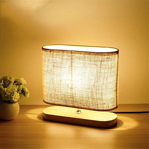 LY-Lampe de Bureau ledLampe de Table, Creative Eye-Care Lampe en Bois Massif pour Chambre à Coucher Lampe de Chevet Dimmable, Salon Contemporain, Bureau, Chambre de bébé